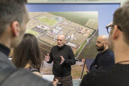 Rem Koolhaas en la presentación de Countryside. The Future, en el Museo Guggenheim de Nueva York. |