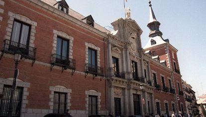 Fachada del palacio de Santa Cruz, sede del Ministerio de Asuntos Exteriores.