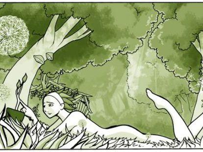 Ilustración de 'El vosque', de Laurielle