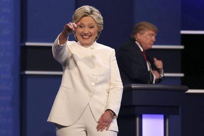 La candidata demócrata Hillary Clinton y el republicano Donald Trump en el debate