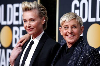 Ellen DeGeneres y su pareja, la actriz Portia de Rossi, en los Golden Globe el pasado mes de enero. rREUTERS/Mario Anzuoni/File Photo