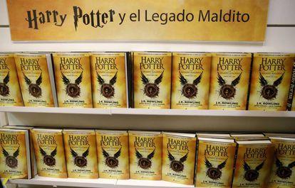 Ejemplares de la octava entrega de la saga Harry Potter.