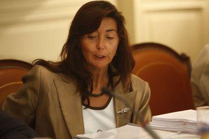 La magistrada Concepción Espejel, en el pleno del Consejo General del Poder Judicial (CGPJ