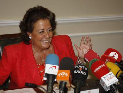 La alcaldesa de Valencia, Rita Barberá, en una imagen de archivo.