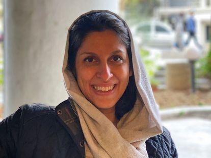 La iranobritánica Nazanin Zaghari-Ratcliffe, tras su liberación este domingo en Teherán.