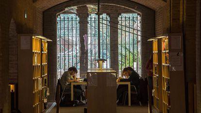 Una biblioteca de la Universidad Pompeu Fabra, esta mañana.