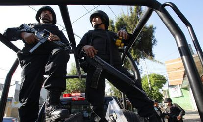 Policías federales en la Ciudad de México.