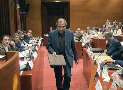 Joaquim Nadal, momentos antes de su intervención en la Diputación Permanente del Parlamento catalán.