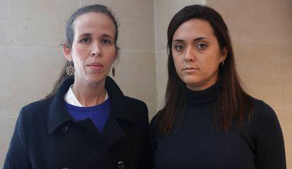 Manuela Bolívar y Rosaura Valentini, en Madrid.