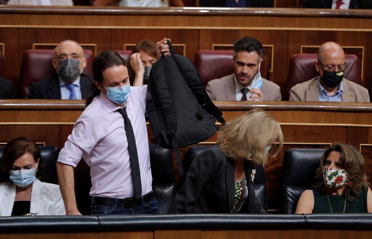 El vicepresidente segundo y líder de Podemos, Pablo Iglesias, en el Congreso, el pasado julio.