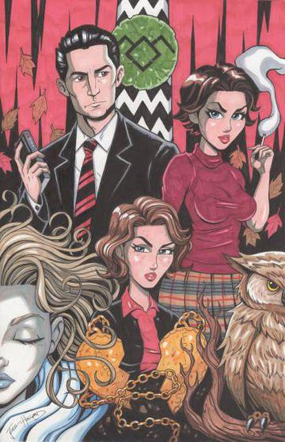 Fan-art de 'Twin Peaks'.