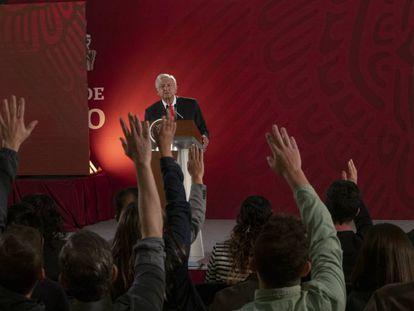 López Obrador durante la conferencia de prensa de este jueves.