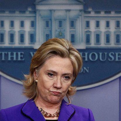 La secretaria de Estado, Hillary Clinton, en una imagen del pasado marzo en Washington.