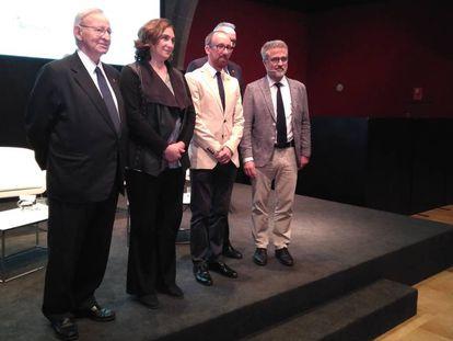 Miquel Valls, Ada Colau, Miquel Forns, Joan Gaspar y Joan Torrella