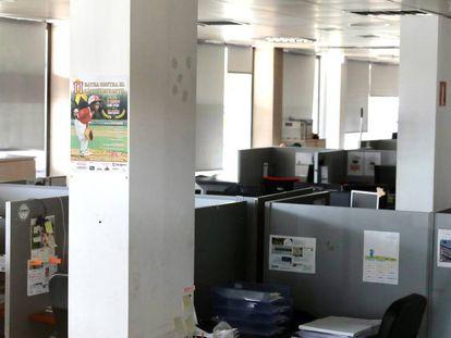 El 'call center' desde el que se recaudaba dinero en Zaragoza-