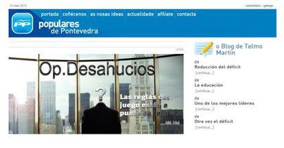 La web de PP de Pontevedra esta tarde