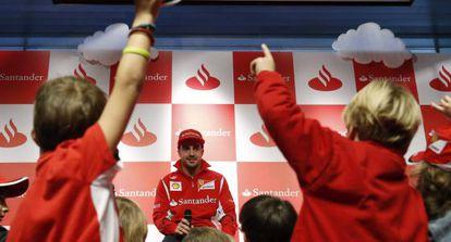 Fernando Alonso, esta mañana en Boadilla del Monte.