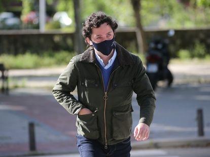 Francisco Nicolás Gómez Iglesias, alias 'El Pequeño Nicolás', a su llegada este miércoles a la Audiencia Provincial de Madrid.