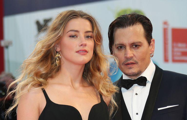 Johnny Depp y Amber Heard en el Festival de Venecia en septiembre de 2015.