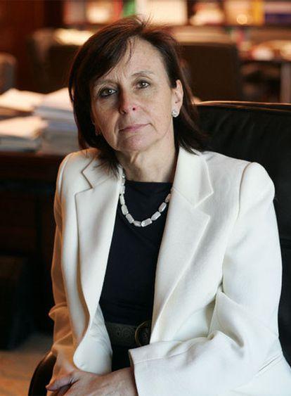 María Emilia Casas, presidenta del Tribunal Constitucional.