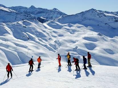 Estación de esquí de Astún, en Huesca.