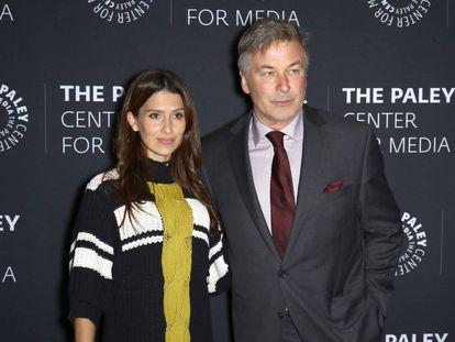 Hilaria y Alec Baldwin, en la entrega de premios del Paley Center Honors en Nueva York este jueves.