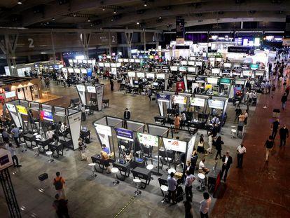 El espacio 4YFN del Mobile World Congress (MWC) de Barcelona.