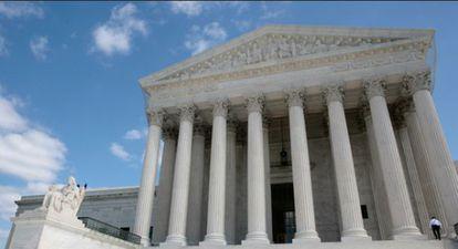 Exterior del Tribunal Supremo de EE UU.