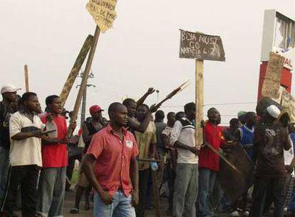 Protestas contra la subida de los precios esta semana en Yaundé, capital de Camerún.