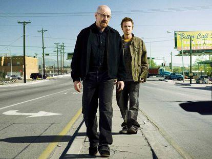 Walter White y Jesse Pinkman, protagonistas de 'Breaking bad', estudiando sus próximos movimientos.