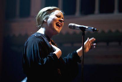 La cantante británica Adele, el viernes pasado durante un concierto en Ámsterdam.