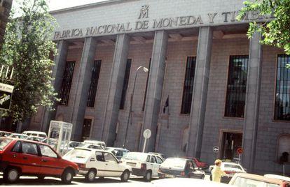 Fachada de la Fábrica Nacional de Moneda y Timbre. EFE/Archivo