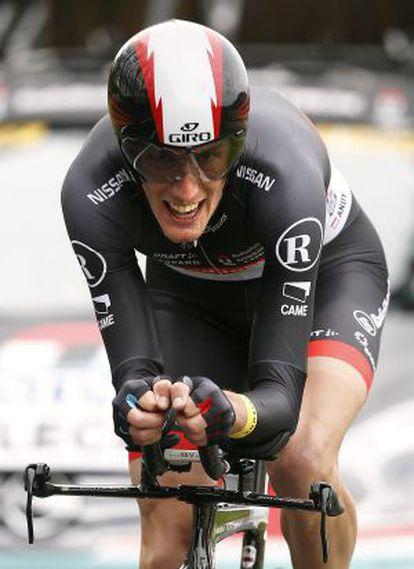 El ciclista Andy Schleck durante la primera etapa de la París - Niza
