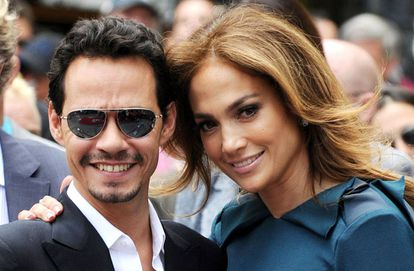 Marc Anthony y Jennifer Lopez, en 2011.