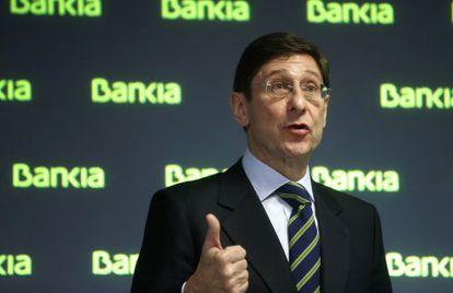 El presidente de Bankia, José Ignacio Goirigolzarri, este martes en la presentación de los resultados de 2013.