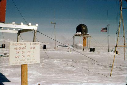 La estación polar Byrd, en la Antártida, en 1959-60.