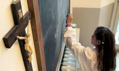Una alumna de un colegio religioso.