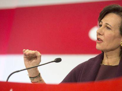 Ana Botín, en la presentación de resultados de 2015.