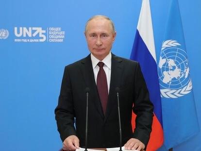 Vladímir Putin, en su discurso televisado en la sede de Naciones Unidas.