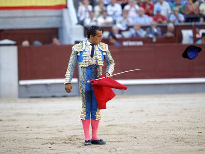 Iván Fandiño, el 27 de mayo de 2017, en la plaza de Las Ventas.