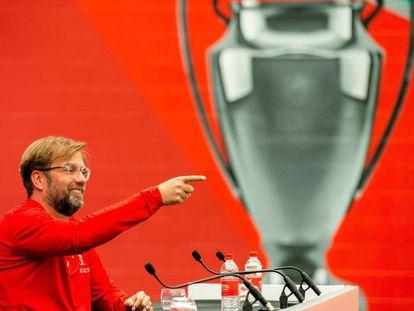 Klopp durante una rueda de prensa en Liverpool previa a la final de la Champions.