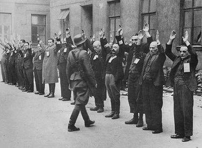 Imagen de archivo del gueto de Varsovia.