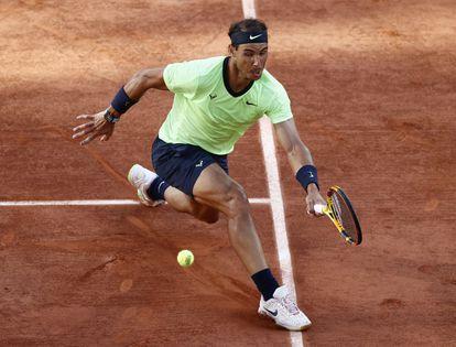 Rafael Nadal, durante las semifinales ante Djokovic.