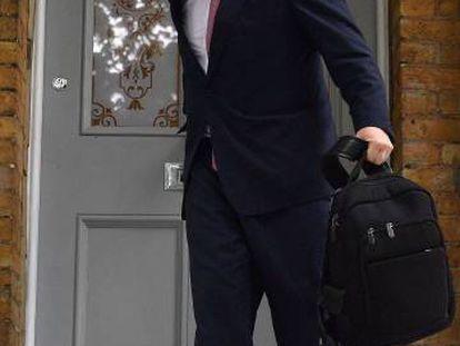 El candidato a suceder a Theresa May, Boris Johson, en Londres este viernes