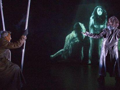 Un momento de la obra 'Macbeth', de Ur Teatro.