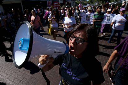 Manifestación contra la violencia de género el pasado 24 de abril en Guadalajara.