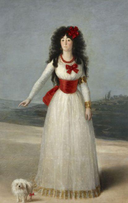 La duquesa de Alba de blanco, retratada por Goya.