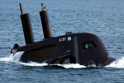 Un submarino alemán U31, durante un ejercicio en el Báltico.