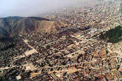 Vista aérea del distrito limeño de San Juan de Lurigancho.
