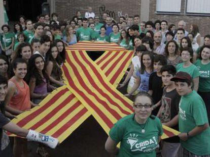 Encierro de profesores y alumnos del IES Josep Sureda i Blanes, en 2013.